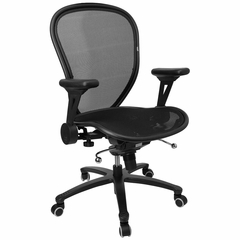 Mid Back Contemporary Mesh Ventilated Chair - CP-B078-3-BK-GG