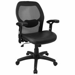 Mid Back Contemporary Mesh Ventilated Chair - LF-W42B-L-GG