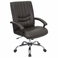 Mid Back Managers Chair - BT-9076-BRN-GG