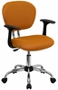Mid-Back Orange Mesh Task Chair - H-2376-F-ORG-ARMS-GG
