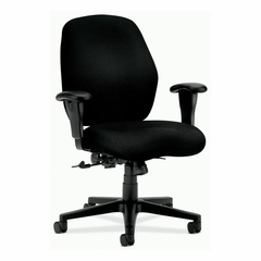 Mid-Back Pneumatic Chair - Black - HON7823NT10T