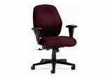 Mid-Back Pneumatic Chair - Wine - HON7823NT69T