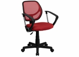 Mid-Back Red Mesh Task Chair & Computer Chair - WA-3074-RD-A-GG