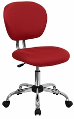 Mid-Back Red Mesh Task Chair - H-2376-F-RED-GG