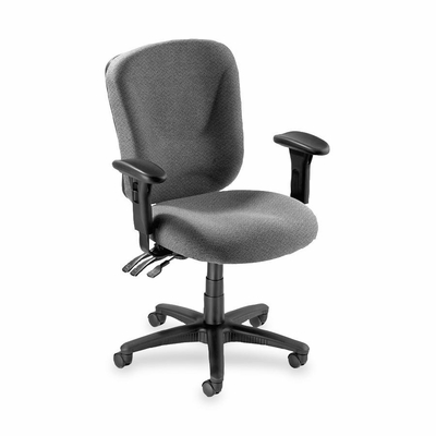 Mid-back Task Chair - Gray - LLR66125