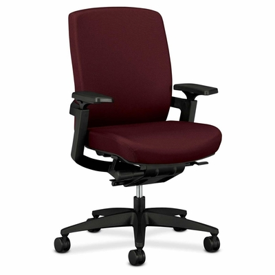 Mid-back Work Chair - Wine - HONFWC1HPBNT69T