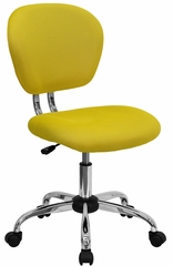 Mid-Back Yellow Mesh Task Chair- H-2376-F-YEL-GG