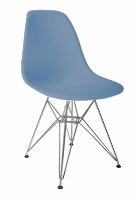 Mid-Century Accent Chair in Blue - DC-231W-BL