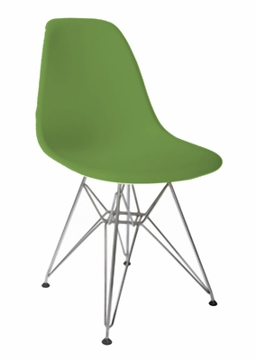 Mid-Century Accent Chair in Green - DC-231W-GR