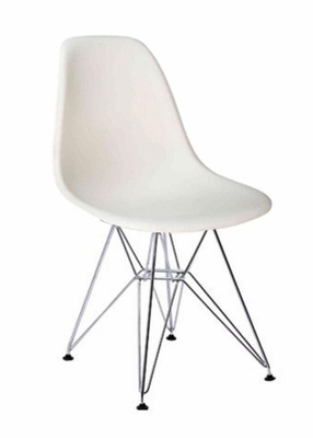 Mid-Century Accent Chair in White - DC-231W-WHT