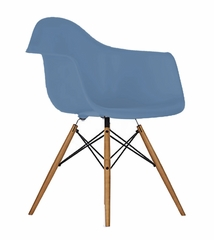 Mid-Century Dining Chair in Blue - DC-311V-BL