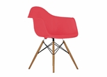 Mid-Century Dining Chair in Red - DC-311V-RED