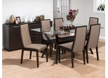 Midtown Espresso Dining Set with 6 Chairs - 357-72