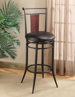 Midtown Swivel Wood Back Bar Stool - Hillsdale Furniture - 4324-831