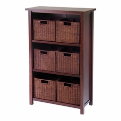 Milan 7Pc Cabinet / Shelf - Winsome Trading - 94310