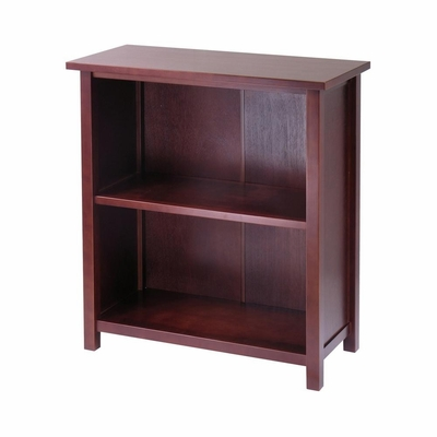 Milan Storage Shelf Or Bookcase, 3-Tier, Medium - Winsome Trading - 94228