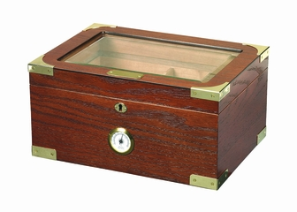 Milano Elegant Desktop Cigar Humidor in Walnut - HUM-75EL