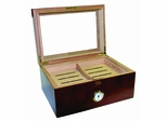 Milano Glass Top 100 Cigar Humidor in Rosewood - HUM-75DRG