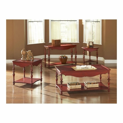 Mill Valley Accent Table Set 4 Piece Weathered Red - Largo - LARGO-ST-901-SET