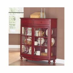 Mill Valley Display Case Weathered Red - Largo - LARGO-ST-T901-139