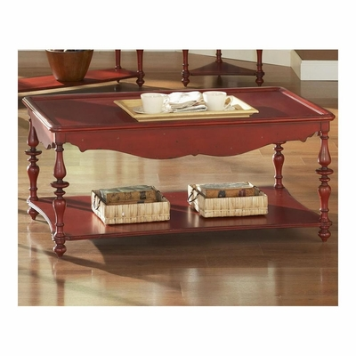 Mill Valley Rectangular Cocktail Table Weathered Red - Largo - LARGO-ST-T901-100