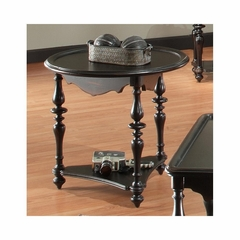 Mill Valley Round End Table Weathered Black - Largo - LARGO-ST-T801-124