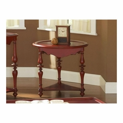 Mill Valley Round End Table Weathered Red - Largo - LARGO-ST-T901-124