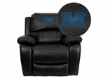 Millikin University Big Blue Leather Recliner - MEN-DA3439-91-BK-41052-EMB-GG