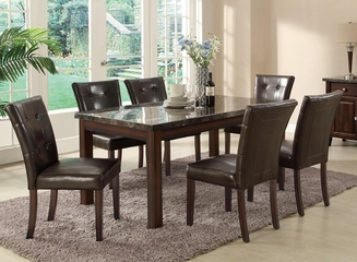 Milton Marble Top Dining Table and 6 Chairs - 103770