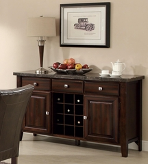 Milton Serving Table with Marble Top - 103784