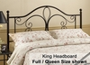 Milwaukee Eastern King Size Metal Headboard - 1014-670