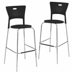 Mimi Barstool Black (Set of 2) - LumiSource - BS-CF-MIMI-BK2