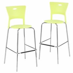 Mimi Barstool Green (Set of 2) - LumiSource - BS-CF-MIMI-GN2