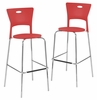 Mimi Barstool Red (Set of 2) - LumiSource - BS-CF-MIMI-R2