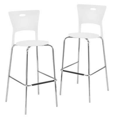 Mimi Barstool White (Set of 2) - LumiSource - BS-CF-MIMI-W2