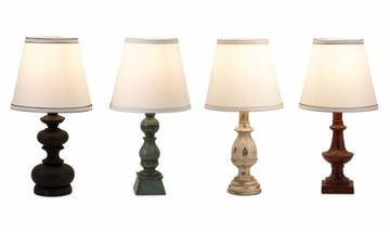 Mini Assorted Birmingham Lamps (Set of 4) - IMAX - 29518-4