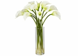 Mini Calla Lily Silk Flower Arrangement - Nearly Natural - 1187-CR