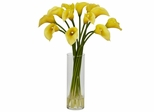Mini Calla Lily Silk Flower Arrangement - Nearly Natural - 1187-YL