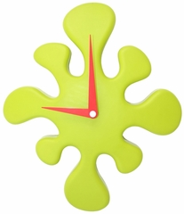 Mini Splat Clock Green - LumiSource - LS-C-SPLATMN-G