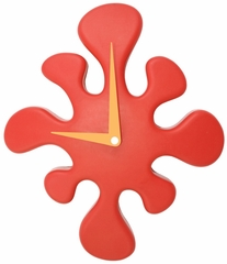 Mini Splat Clock Red - LumiSource - LS-C-SPLATMN-R