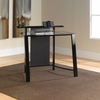 Mirage Desk with Tempered Glass - Black / Clear - Sauder Furniture - 411969