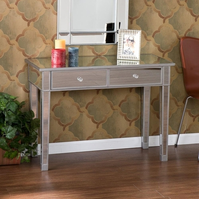Mirage Mirrored 2-Drawer Console Table - Holly and Martin