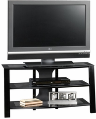 Mirage Panel TV Stand Black / Clear - Sauder Furniture - 412067