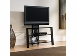 Mirage Panel TV Stand with Mount Black / Clear - Sauder Furniture - 411972