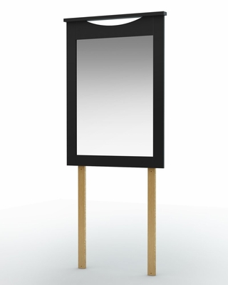 Mirror in Solid Black - South Shore Furniture - 3107122