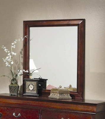 Mirror - Louis Philippe Mirror in Cherry - Coaster - 200434