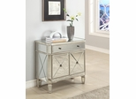 Mirrored 1-Drawer, 2-Door Console - Powell Furniture - 233-228