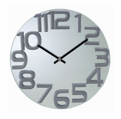 Mirrored Wall Clock - G110412SILVER