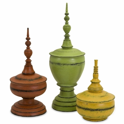 Misa Finials (Set of 3) - IMAX - 29539-3