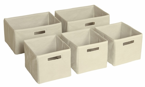 Mission Canvas Storage Bins (Set of 5) - Guidecraft - G85508
